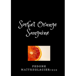 Sorbet  Pédone ORANGE SANGUINE en bac de 2.5L